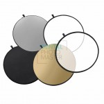 5-in-1 collapsible reflector disc – available options