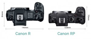 Canon-EOS-R-vs-Canon-EOS-RP-top-view-size-comparison